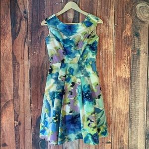Eliza J Size 2 Watercolor Dress With Pockets